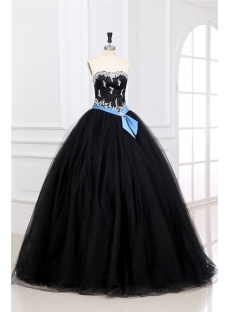 Charming Long Black Military Ball Gown