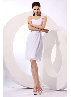 Charming White One Shoulder Graduation Dresses