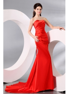 Chic Burnt Orange Formal Prom Dresses 2014