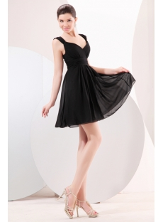 Cute Chiffon Little Black Homecoming Dress