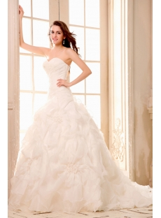 Dramatic Sweetheart Mermaid Organza Bridal Gowns