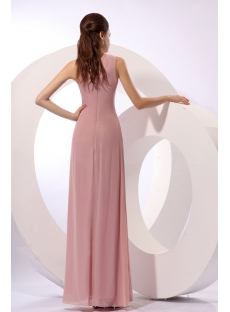 Dusty Rose Modest Long Chiffon Mother of Brides Dress with Jacket