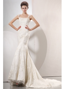 Elegant Cap Sleeves Mermaid Style Lace Wedding Gowns