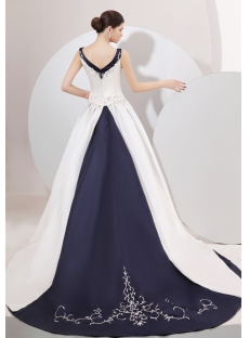 Wedding Dresses With Navy Blue Trim 121