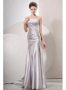 Fascinating Sheath Silver Prom Dress 2014