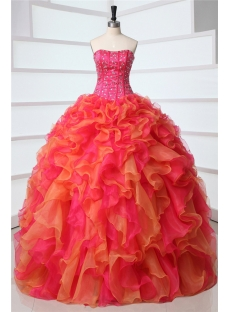 Fashion Multi-color Rainbow Quinceanera Dresses