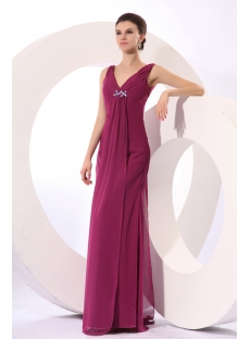 Formal Fuchsia Mother of Groom Dresses Fall 2012