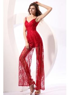 Glamorous Burgundy Lace Sexy Bodysuit with V-neckline