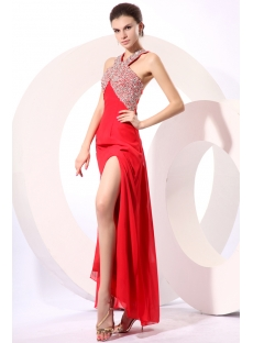 Gorgeous Red Halter Criss-Cross Cocktail Dress