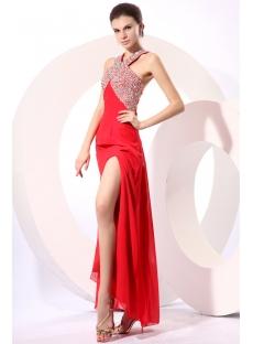 Gorgeous Red Halter Criss-Cross Cocktail Dress
