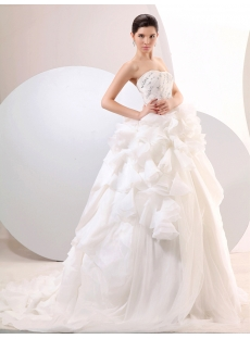 Ivory Delicate Sweetheart Puffy Ball Gown Wedding Dresses
