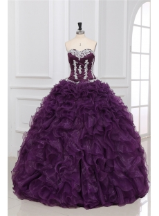 Luxurious Grape Puffy Quinceanera Dresses