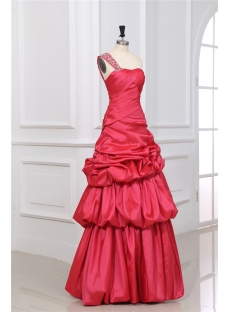 Modest One Shoulder A-line Long 15 Quinceanera Dress