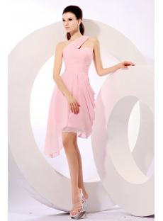 On Sale Pink One Shoulder Homecoming Gown