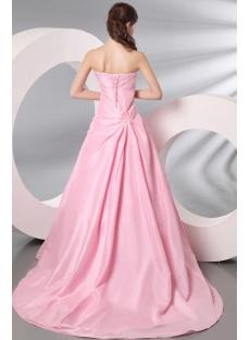 Mature bridal gowns pink long taffeta wedding dress for over bride