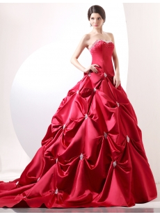 Red Luxury Corset Princess Wedding Gown Dress:1st-dress.com
