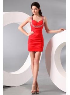 Red Pretty Taffeta Mini Junior Prom Dress
