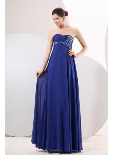 Romantic Royal Blue Maternity Cocktail Gown