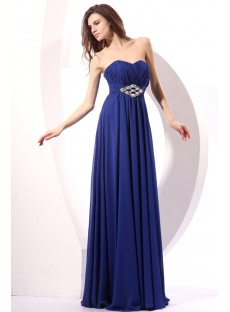 Royal Long Chiffon Maternity Prom Gown Dress