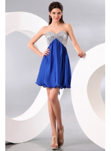 Sequins Pretty Royal Babydoll Cocktail Dress