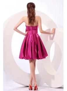 Strapless A-line Junior bubble Party Dress with Bow