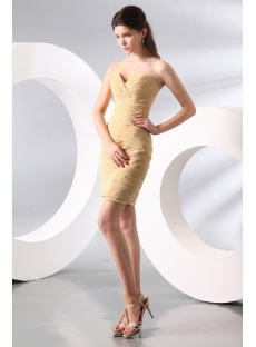 Strapless Champagne Mini Club Party Dress