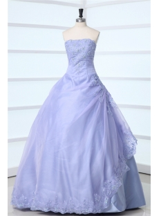 Strapless Lavender Long Quinceanera Dress 2011