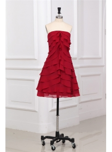 Strapless Layered Chiffon Short Homecoming Dress