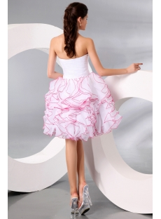 White Charming Ball Gown Sweetheart Knee-length Pageant