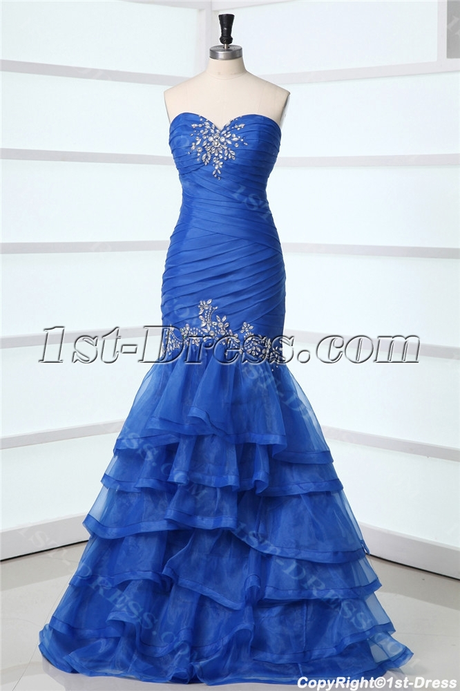 Beautiful Royal Long Mermaid Celebrity Dress
