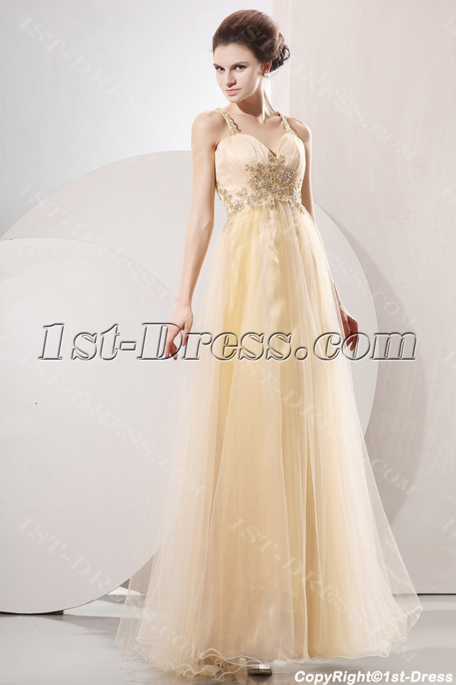 Champagne Masquerade Sexy Ball Gown With Criss Cross1st Dress