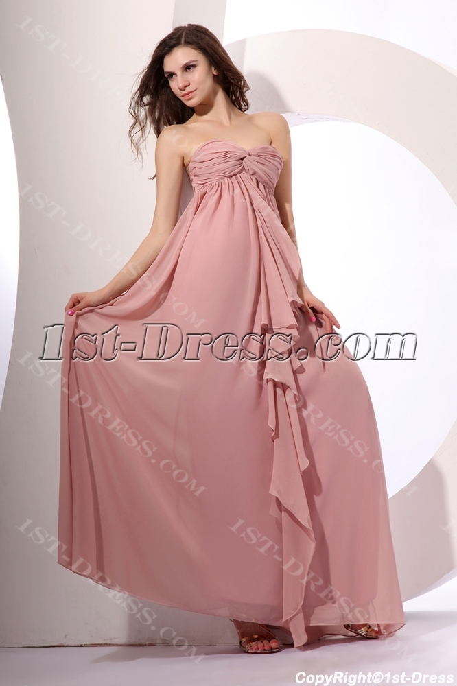 cc924920676 Exquisite Chiffon Long Ruched Pregnant Evening Dress 1st-dress.com