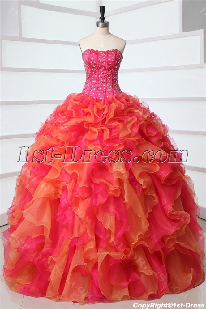 Fashion Multi Color Rainbow Quinceanera Dresses 1st Dress Com
