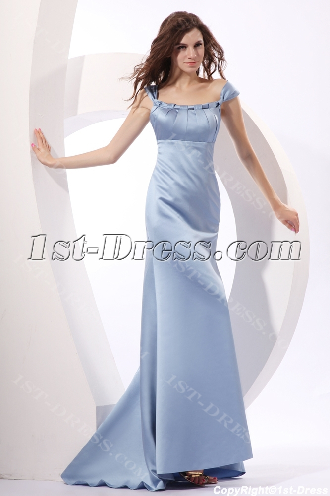 9836c44a21c9 Scoop Satin Lavender Sheath Formal Occasion Dress with Train:1st ...