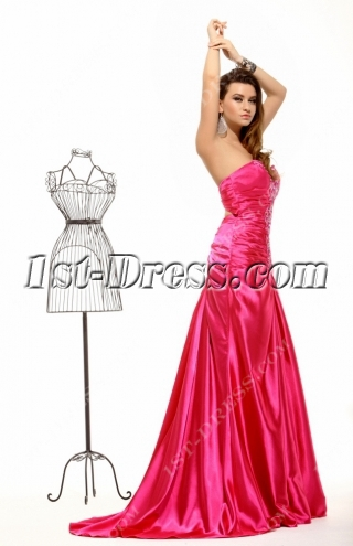 Amazing Hot Pink Summer Evening Dress