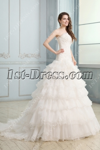 Attractive Strapless Mermaid Corset Bridal Gowns