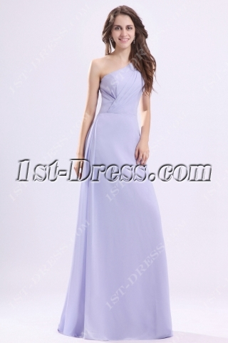 Beautiful Lavender One Shoulder Homecoming Dress