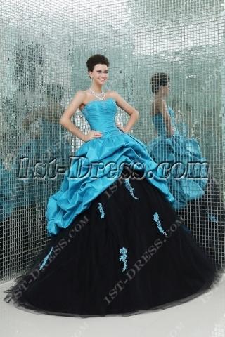 Blue and Black 2014 vestidos de quince años