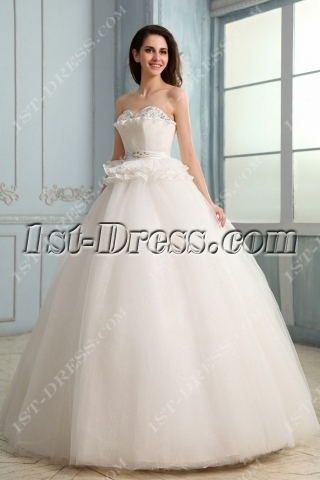 Brilliant Sweetheart Long Puffy 15 Quinceanera Gown