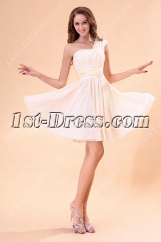 Champagne Chiffon Sweetheart Homecoming Dress