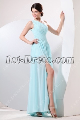 Charming Chiffon Homecoming Dress with One Shoulder