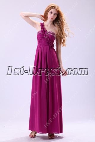Charming Fuchsia Chiffon Pregnant Club Dress