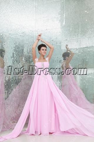 Charming Pink Pregnant Formal Evening Dress