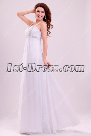 Classical Beaded Straps Chiffon Maternity Bridal Gown