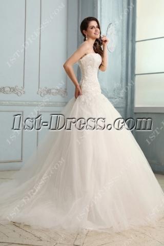 Concise Drop Waist Mermaid Wedding Dress