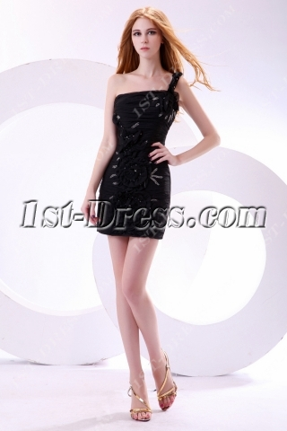 Cute One Shoulder Little Black Club Dresses