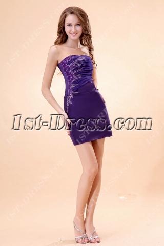 Cute Purple Mini Graduation Dresses