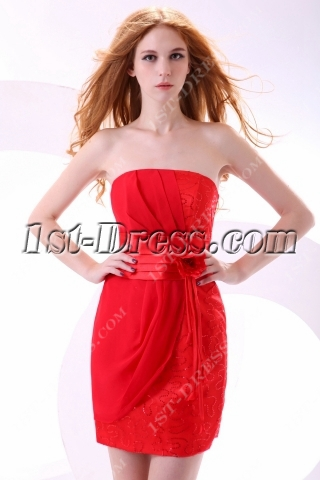 Cute Red Mini Club Dress Plus Size