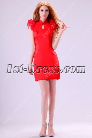 East Cheongsam Short Prom Dress 2014