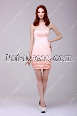 Fancy Mini Graduation Dress with Pearls